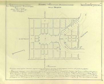 «Прожектированный» план города