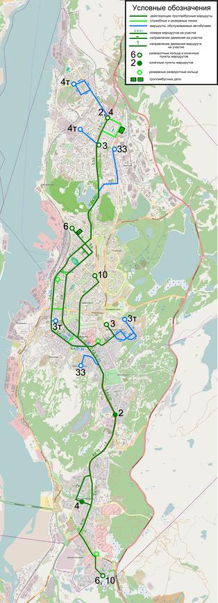 Схема маршрутов ОАО «